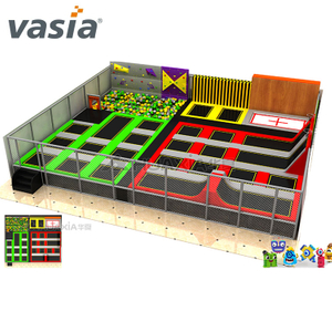 Vasia Cheap Course Professional Indoor Trampoline Park para interior